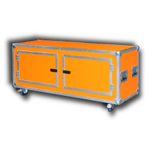 Sideboard Flightcase in orange